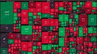 نقشه بورس امروز بر اساس ارزش معاملات/ افت ۲۰هزار واحدی شاخص کل در ۳۰دقیقه ابتدایی
