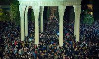 حال و هوای سالتحویل در حافظیه شیراز +تصاویر