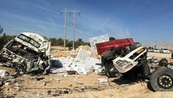 تصادف مرگبار ۲ تریلر در بوشهر +عکس