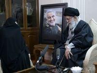 حضور رهبر انقلاب در منزل سردار سلیمانی +فیلم