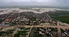 تصاویر هوایی از سیل و آبگرفتگی در گنبدکاووس