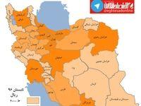 نقشه استانی کشور براساس قیمت اجاره مسکن +اینفوگرافیک