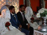 برگزاری جشن ازدواج در اردوگاه سیلزدگان