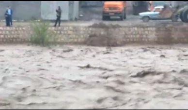 طغیان رودخانه تلار در مازندران