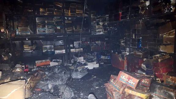 میدان حسنآباد دوباره دچار حریق شد + عکس