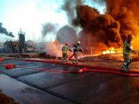 ادامه تلاش برای مهار آتش سوزی پالایشگاه تهران