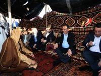 قهوه خوردن جهانگیری در چادر عشایر خوزستان +عکس