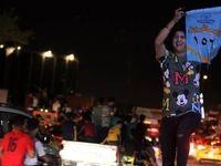 شادمانی هوادارن مقتدی صدر از پیشتازی در انتخابات +عکس