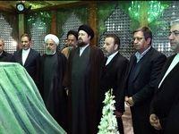 مراسم تجدید میثاق اعضای دولت با آرمانهای امام راحل +عکس