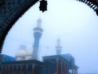 هوای مه آلود حرم امامین کاظمین(ع) +عکس