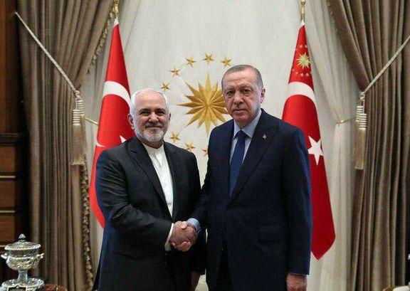 حل سیاسی بحران سوریه محور دیدار ظریف با اردوغان