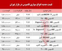 قیمت خودرو لکسوس در بازار تهران +جدول