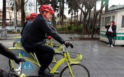 دوچرخه سواری شهرداران ایران در تهران