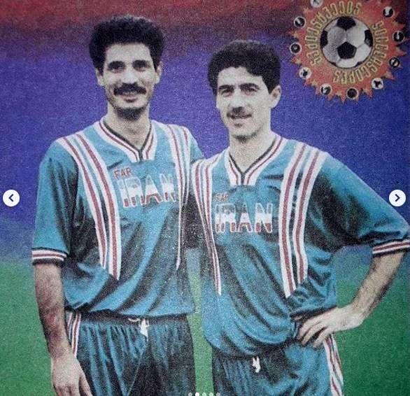 (عکس) تصویری زیرخاکی از کریم باقری و علی دایی در لباس عجیب تیم ملی