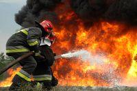 آتشگرفتن منبع سوخت در اقلیم کردستان +فیلم