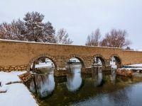برف زمستانی در چشمهعلی دامغان +تصاویر