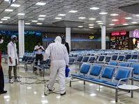 تدابیر شدید بهداشتی در فرودگاه کیش! +تصاویر