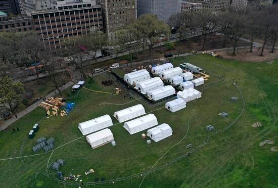 بیمارستان صحرایی نیویورک در پارک مرکزی این شهر آغاز به کار کرد