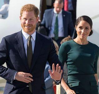 اولین سفر خارجی شاهزاده هری و مگان +عکس