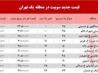 سوییت در منطقه یک تهران چند؟ +جدول