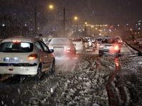 بارش سنگین برف در سنندج +عکس