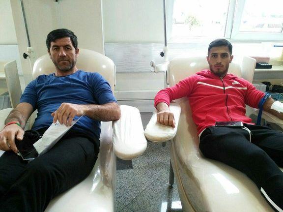 ۲پرسپولیسی خون دادند +عکس