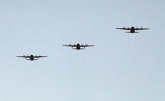 پرواز جمع ۳ فروند هرکولس ارتش +عکس