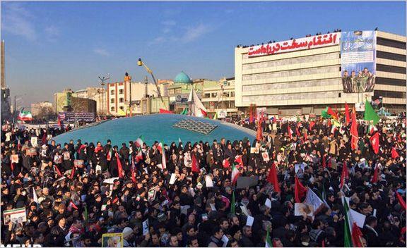 العهد: مردم در ساعات اولیه صبح در خیابانها حاضر شدند