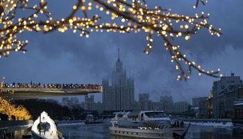 مسکو از پنجره زمستان +تصاویر