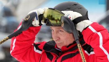 اسکی بازی پوتین و لوکاشنکو +تصاویر