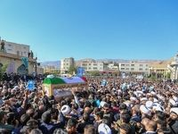 تشییع امام جمعه شهید کازرون +عکس