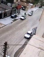 بارش شدید باران و تگرگ و به راه افتادن سیلاب در سمنان +فیلم