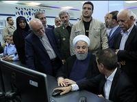 روحانی در افتتاح مجتمع پتروشیمی مرجان عسلویه +عکس