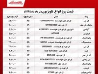 قیمت روز تلویزیون (۱۳۹۹/۶/۳)