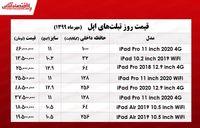 قیمت روز انواع تبلت اپل +جدول
