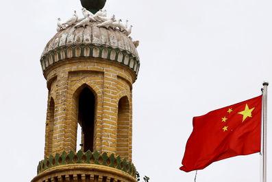 پرچم چین درکاشگار ، منطقه خودمختار اویگور چین