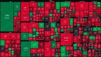 نقشه بورس امروز بر اساس ارزش معاملات/ افت دو درصدی شاخص در آغاز معاملات این هفته