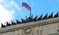 روسها در هوای برفی به آب زدند