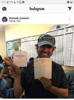 شهاب حسینی رای خود را به صندوق انداخت +عکس