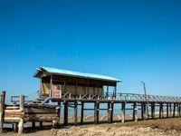 قدم به قدم با مرگ دریای خزر +تصاویر