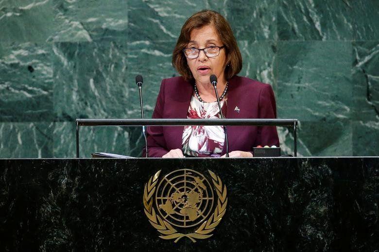 Marshall Islands' President Hilda Heine, in office since January 28, 2016. REUTERS/Eduardo Munoz