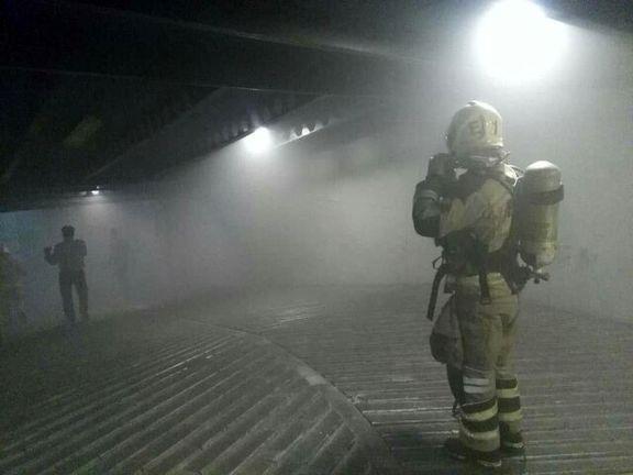 آتش سوزی انبار کالا در لاله زار