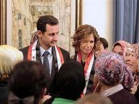 حضور بشار اسد و همسرش در  تونل مرگ +تصاویر