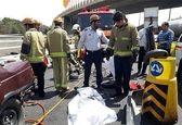 مرگ تلخ ۲مرد جوان در خودروی مچاله شده +تصاویر