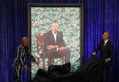 مراسم رونمایی از پرتره میشل و باراک اوباما +تصاویر