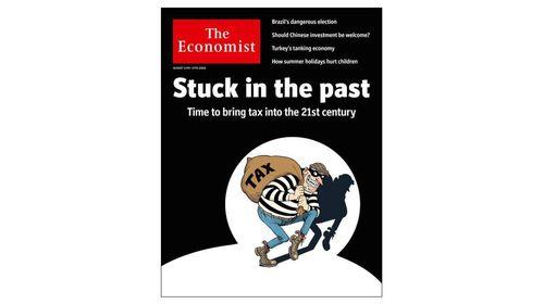 طرح روی جلد هفتهنامه اکونومیست درباره مالیات +عکس