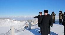 کوهنوردی کیم جونگ اون در هوای برفی +عکس
