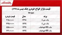 قیمت خودرو جک در تهران +جدول