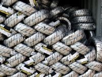 انبار احتکار 110هزار و 568حلقه لاستیک در کهریزک کشف شد
