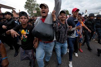 کاروان مهاجران هندوراس به آمریکا +تصاویر
